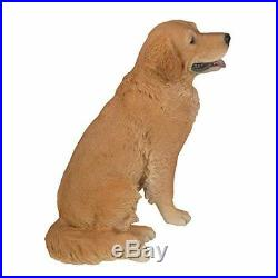 Large Sitting Golden Retriever Statue With Glass Eyes 21 Tall Hand Painted