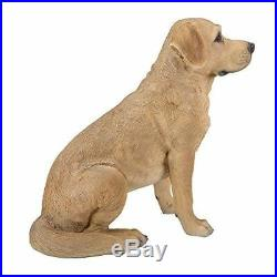 Lively 21 Tall Sitting Labrador Retriever Statue With Glass Eyes Hand Painted