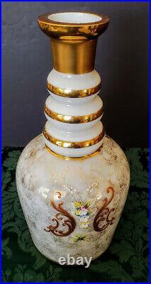 MOSER Art Nouveau Era Rare Huge Magnum Champagne Decanter 25 Tall 7 wide Fine