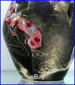 Marc Bellaire Mardi Gras Pitcher Hand Painted & Signed, 14.5 Tall