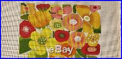 Melissa Shirley Designs Hand Painted Needlepoint Canvas Tall Bright Bouquet