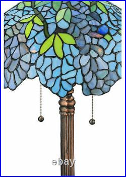 Meyda Tiffany 139606 Wisteria 2 Light 25 Tall Hand-Crafted Table MultiColor