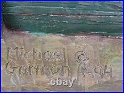 Michael Garman Roadside Billboard Toonerville Trolley Sculpture 10 Tall 1994