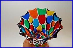 Murano Vase Multi Color ZECCHIN Style 8 inch tall