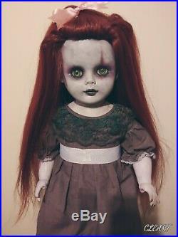 OOAK Gothic Creepy Gothic 25inch tall plastic custom art Doll