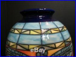 Old Tupton Ware Hand Painted Jeannie McDougall 2 Vases Dragonfly 10 3/4 Tall