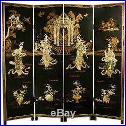 Oriental Furniture 6 ft. Tall Dancing Ladies Screen