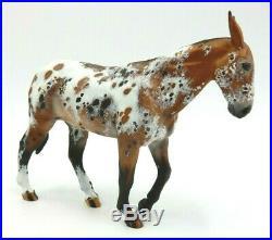 Rare Leo Custom Handpainted 4.75 Tall Spotted Mule Model Horse Figurine