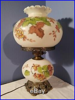 Rare Vintage! Falkenstein Gone with The Wind Hand Painted Lamp, 23 tall, 3 way