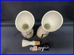 Red Wing SMART SET Hand Painted Set of 2 Cruets withLids 9 1/2 Tall
