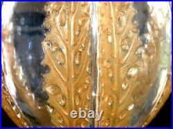Rene Lalique 1922 Chardons Vase with Sepia Patina. Signed. 8 Tall. Excellent