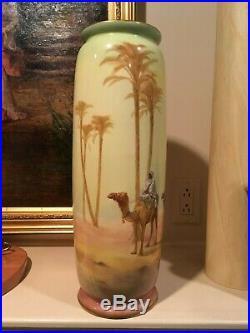 Royal Doulton Huge Hand-Painted Desert Scene Vase (17 tall) circa 1909-1929