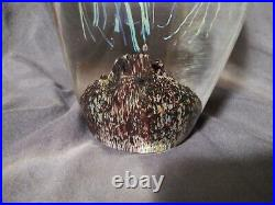 Satava Double Moon Jellyfish Hand Crafted Glass 10 Inches Tall Signed