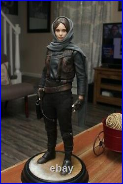 Star Was Rogue One Jyn Erso Hand Painted Statue 20 Tall Beautiful Piece