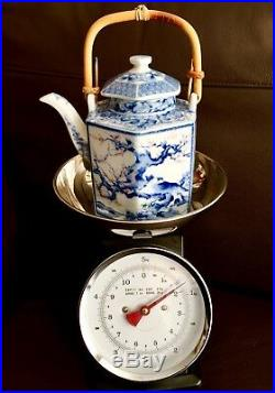 Superb Antique Large 8 Tall Heavy (800g) Hand Painted Japanese Ceramic Teapot