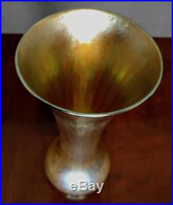 TIFFANY Favrile 10 of Old Gold Beauty # 1511 Beauty Tall & flawless 1890 RARE