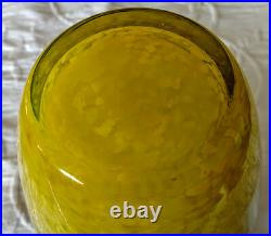 Tall MURANO Fine Mottled, Spotted, Cased Bubble, Yellow, Grey, White & Purple