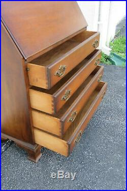 Tall and Large Secretary Desk Cabinet Cupboard Hand Painted Drum Trumpet 1296