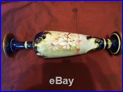 Thomas Forester Baluster Hand Painted Vase c1900 40 cm tall signed S Frost