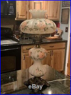 Vintage 3 Way Hand Painted Gone With The Wind Table Lamp 24 Tall