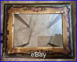 Vintage / Antique Set of 3 Wood Nesting Tables Hand Painted 22.5 Tall