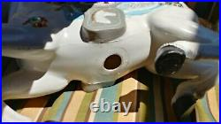 Vintage Blow Mold Carousel Horse Hand Painted Artist Signed 31 Long, 24 Tall