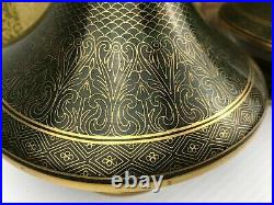 Vintage Hand Made Cloissonne Vases 1970's Beijing, China JINGFA 10 Tall