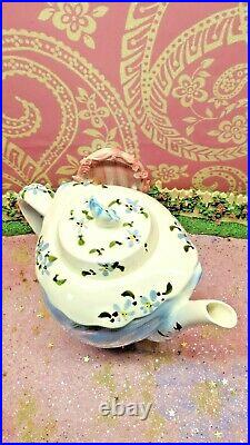 Vintage Lefton Miss Priss Kitty Cat Teapot #15165 4-cup Hand-painted 6.5 tall