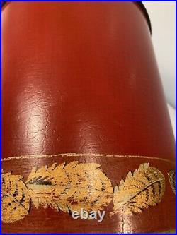 Vintage Oka Large Bohea Handpainted Table Lamp 44 Cm Tall