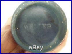 Vintage Sweet Weller Hudson Hand Painted Art Pottery Vase, 7-1/4 Tall