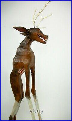 WENDIGO- My 14.25 tall hand carved/painted & signed figure