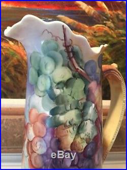 Willets Belleek Hand Painted Tall Tankard Exquisite Signed London