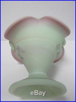 XS318 Fenton 9 3/4''tall Basket Lotus Mist Burmese Art Glass Brand New in Box